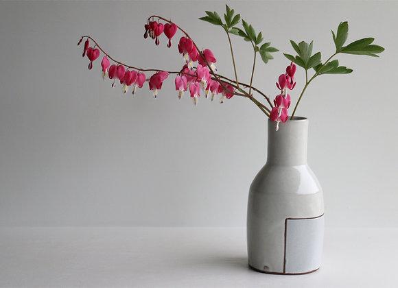 Storm blue square vase