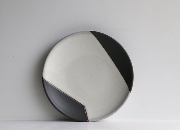 Black and white lunch plate