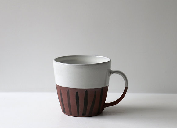 White striped mug