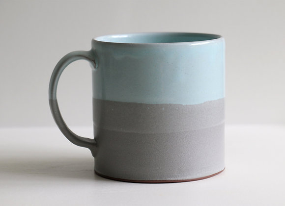 Blue and grey seastone mug