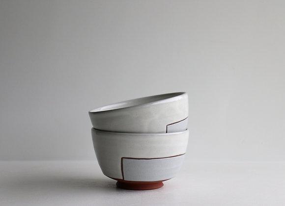 Storm blue square bowl