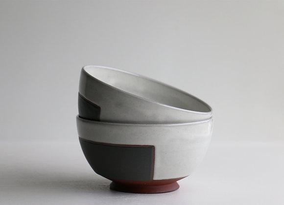 Black square bowl