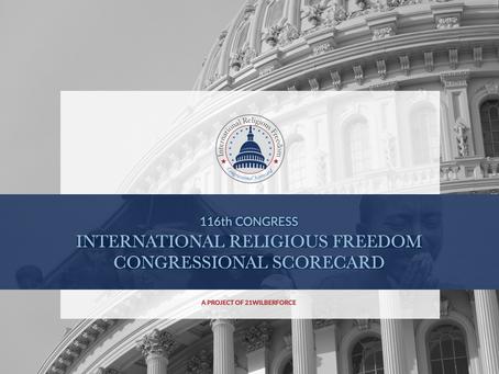 116th Congress International Religious Freedom Congressional Scorecard