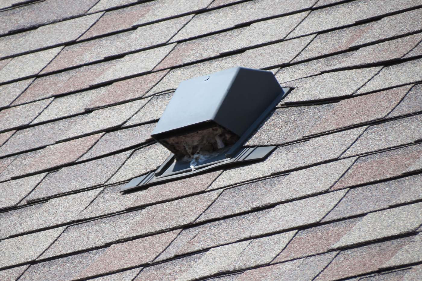 Dryer vent cleaning rooftop