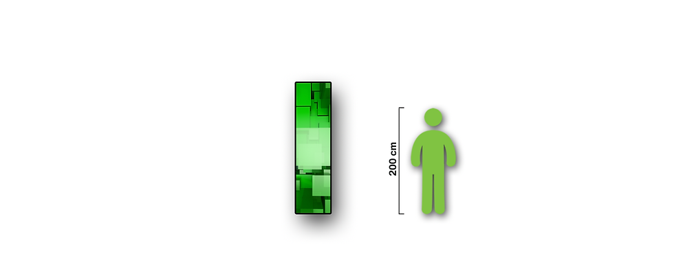 LED strip 0.5x2.5m