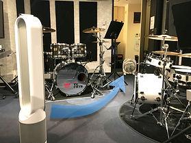 コロナ対策 換気 ドラムレッスン ドラム教室
