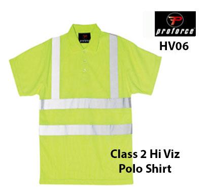 HV06 PROFORCE Hi Viz Polo Shirt