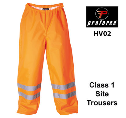 HV02 PROFORCE Hi Viz Site Trousers