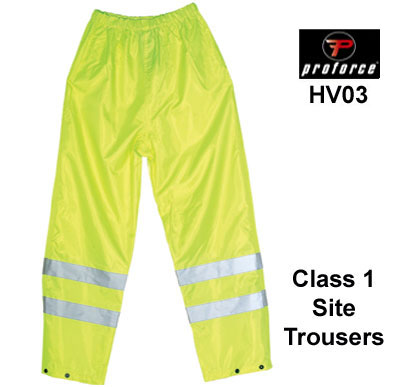 HV03 PROFORCE Hi Viz Site Trousers