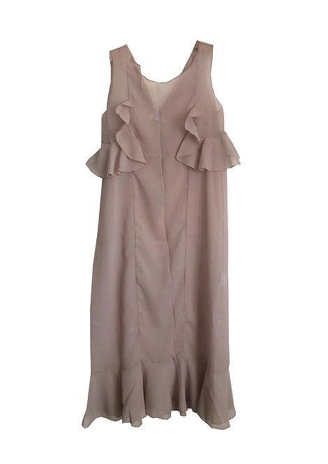 [archive sale] 59°C dress / pinkbeige