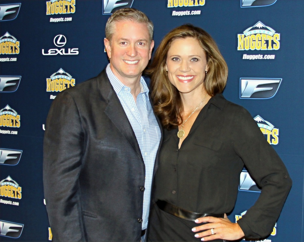 Natalie and Tyler Tysdal Denver Nuggets Media Training Event