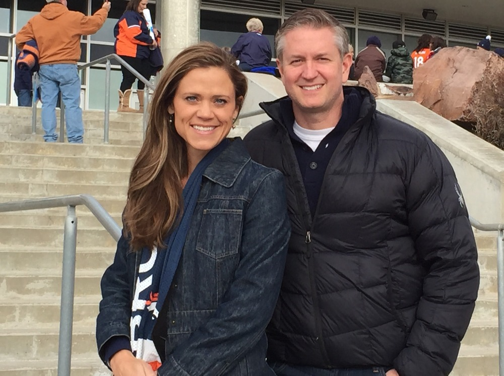 Natalie Tysdal with Tyler Tysdal at Denver Broncos Game photo
