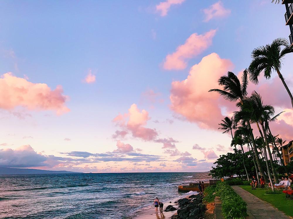 sunset in Maui Hawaii