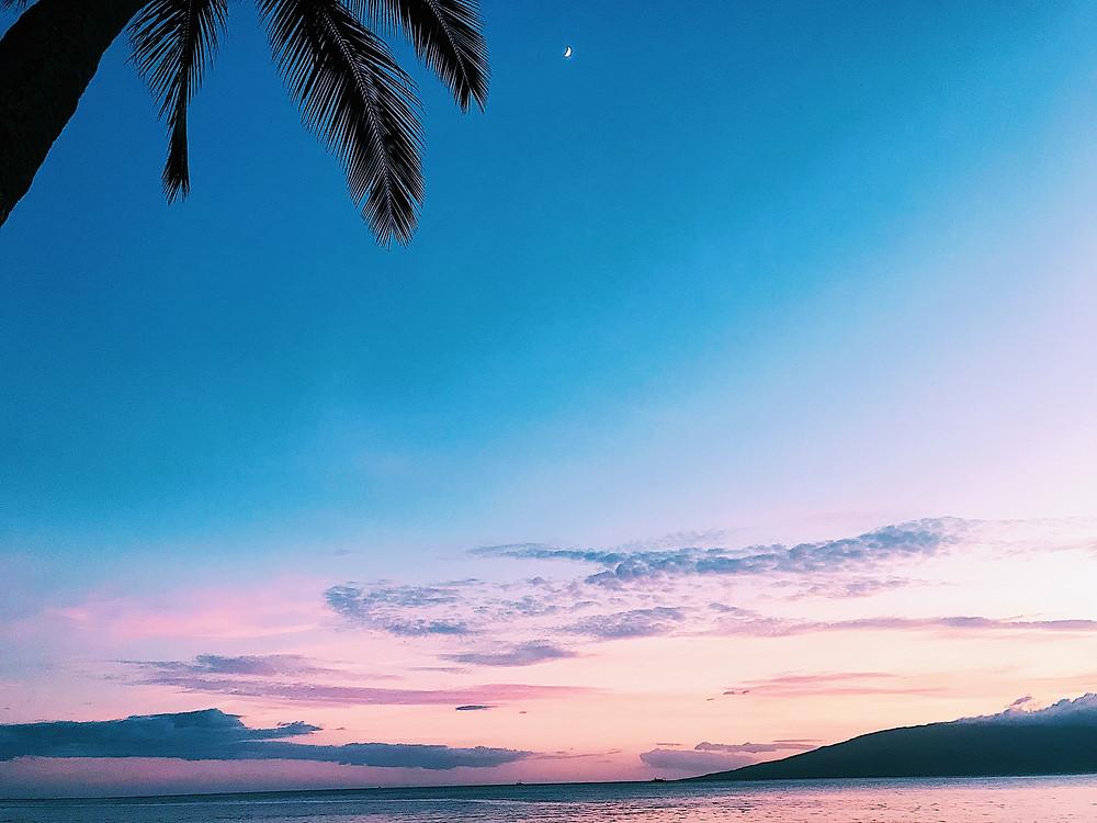 tropical sunset maui
