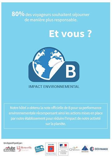 Impact environnementale de l'hôtel