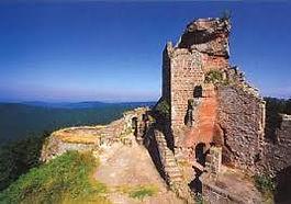 Die Burg Hohenburg in Wingen