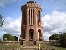 as Museum verfügt über einen Turm, von dem man das Panorama mit Blick auf Woerth beobachten kann und