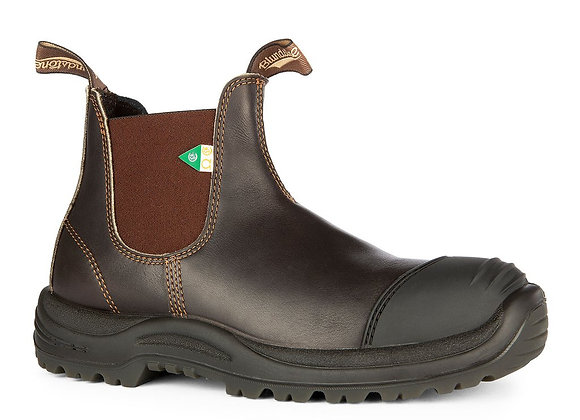 Blundstone 167 Work and Safety Boot Rubber Toe Cap Stout Brown