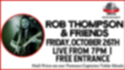Rob Thompson & Friends - Oct 26 - cOVER