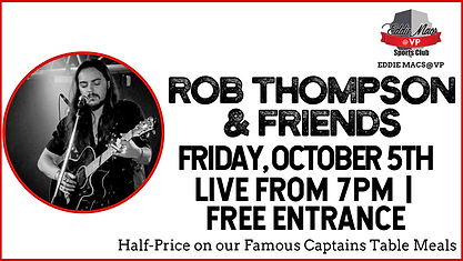 Rob Thompson & Friends - Oct 5 - cOVER p