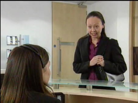 "Conversation & Pronunciation Practice ""Meeting a Visitor in Reception"""