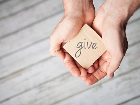 The practice of giving.