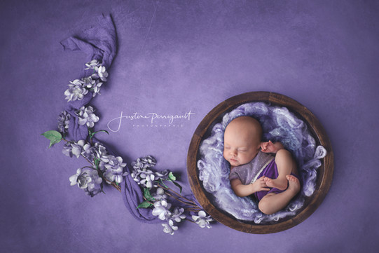 bébé fleur finistère photographe enfant original