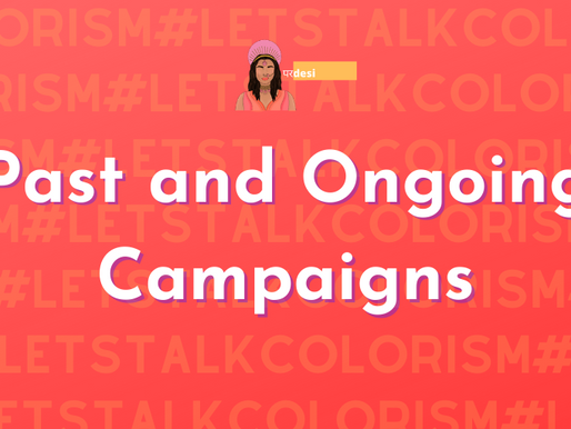 #LetsTalkColorism: Past and ongoing Campaigns to know about!
