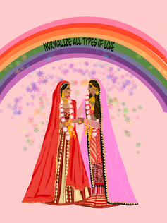 Normalize All Types of Love: LGBTQ+ love in South Asian weddings