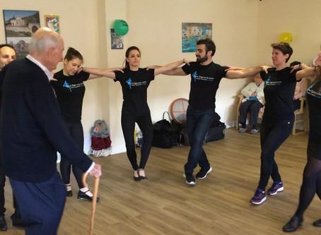 Dancing for our elderly Greek community (priceless)