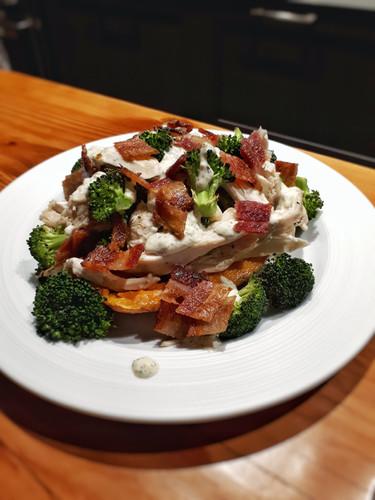 Ranch Chicken & Bacon Stuffed Potatoes