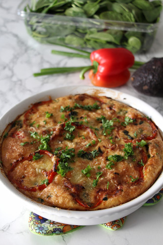 Italian Sausage, Peppers & Spinach Frittata