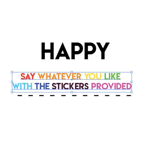 Sticker Card - Happy ...