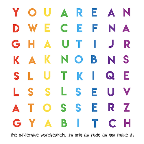 rude word search