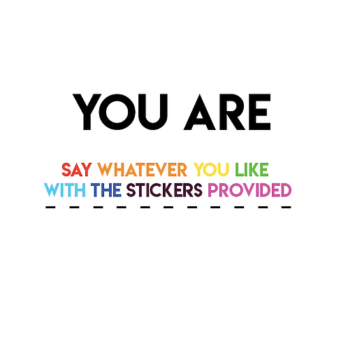 Sticker Card - You Are ...