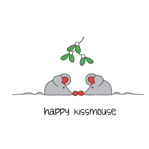 happy kiss mouse