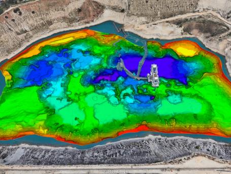 Uncrewed Vessel Performs Dredge Pit Survey