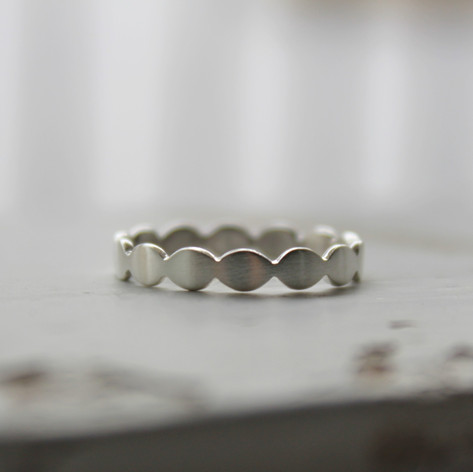 Silberring oval, flach
