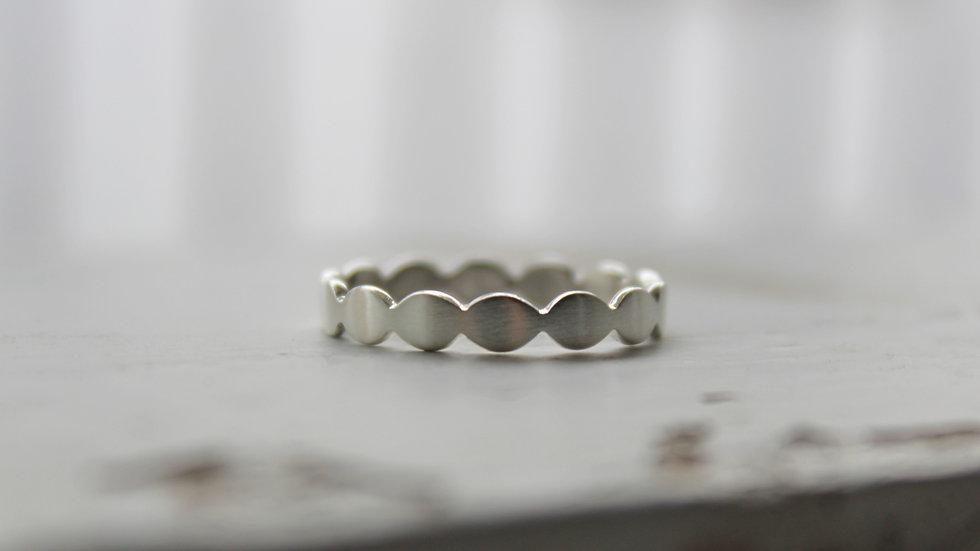 Silberring oval flach 3,5mm