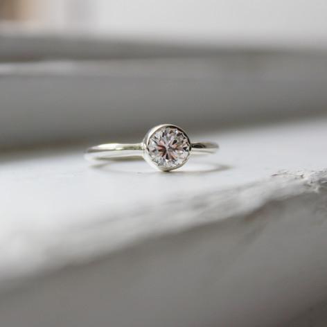 Steinring in Silber