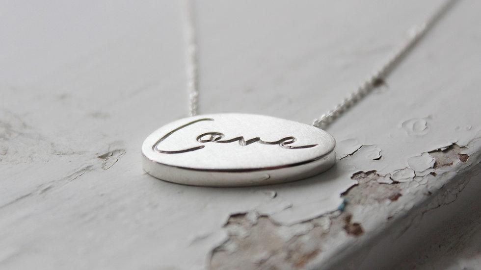 "Kette ""Love"" in Silber"