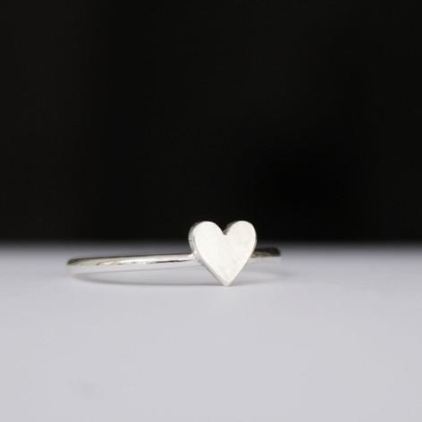 Silberringe mit Herz