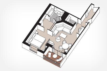Seven Seas Suite (fwd) Floor Plan