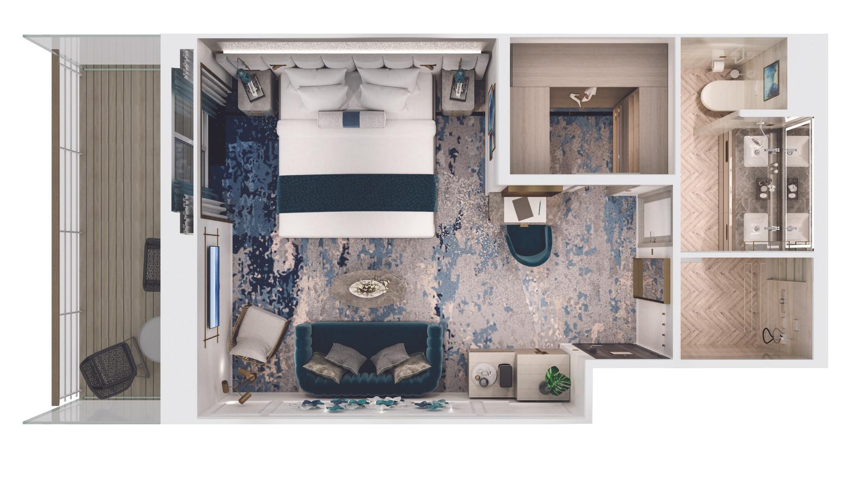 Seabreeze Penthouse with Verandah (SH) Layout
