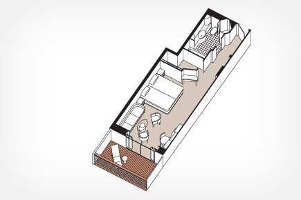 Deluxe Veranda Suite - F, G & E Floor Plan
