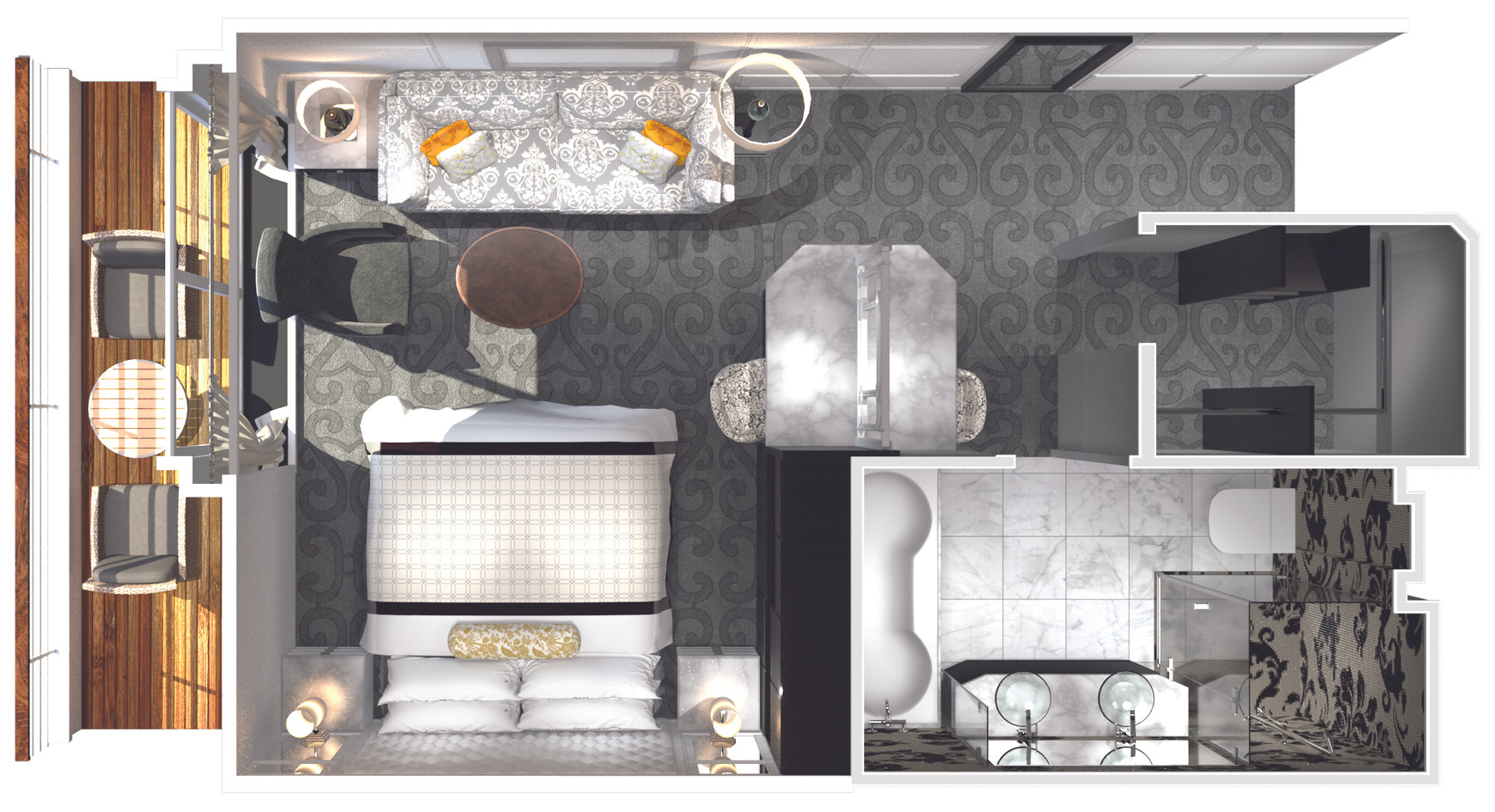 Penthouse with Verandah (PH) Layout