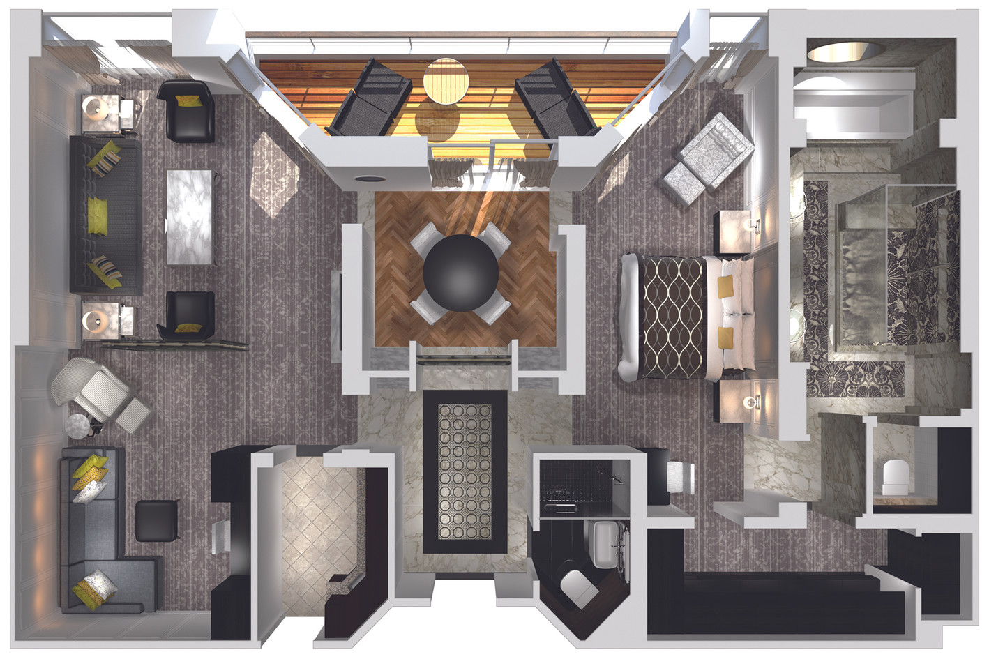 Crystal Penthouse with Verandah (CP) Layout