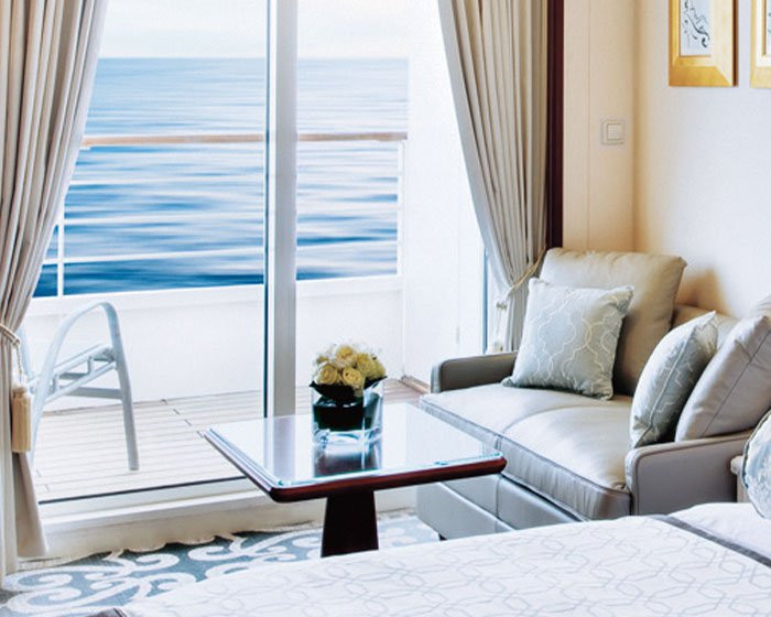 Deluxe Stateroom with Verandah Living Room (P1, P2, A1, A2, B1, B2, B3)
