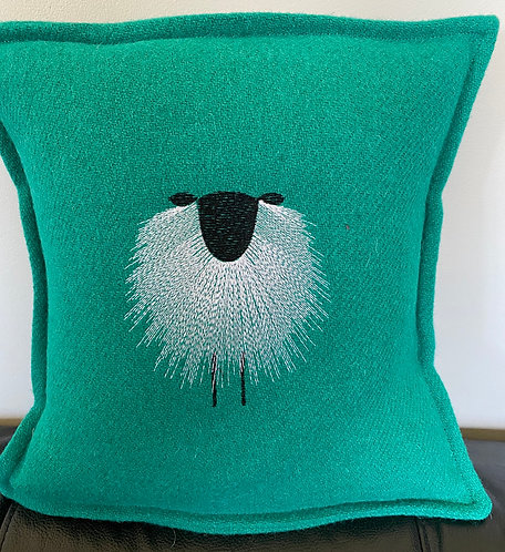 Harris Tweed Cushion with Shaggy Sheep