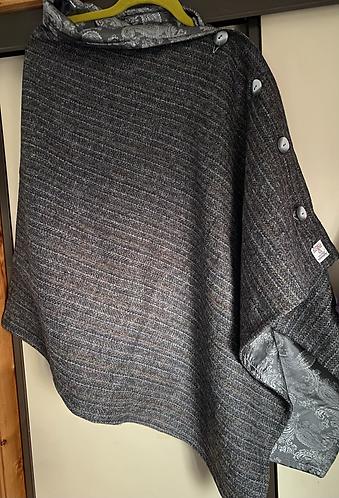 Grey Stripe Harris Tweed Cape